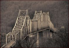 Neat pic of the bridge that crosses the Ohio River from Madison, IN to Milton, KY.