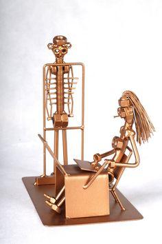 Radiólogo - MetalDiorama Metal arte escultura