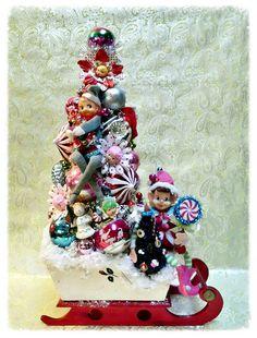Elf on the shelf bottle brush tree caroline michelle laughter and