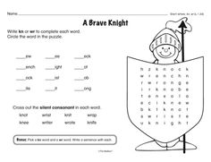 heres some royal reinforcement of silent letters a free word skills worksheet from themailbox