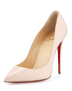 Pigalles Follies Patent 100mm Red Sole Pump, Ballerina Pink by Christian Louboutin at Neiman Marcus.