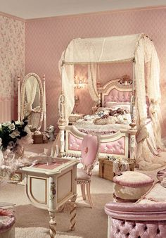 9 Enormous Tips: Red Shabby Chic Furniture shabby chic mirror baskets.How To Do Shabby Chic Furniture boho shabby chic bathroom. Pink Bedrooms, Shabby Chic Bedrooms, Shabby Chic Furniture, Shabby Chic Decor, Girls Bedroom, Bedroom Decor, Princess Bedrooms, Luxury Kids Bedroom, Pink Princess Room