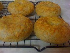 gluten free cheesy bagels!