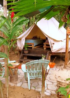 Tents - Palmar Tent Lodge,Bocas del Toro, Panama $50/ night for a double or $10 per person to bring your own non-glam tent