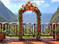 Can't get a more BREATHTAKING backdrop at LADERA in St. Lucia...The Paradise Ridge Pavillion! #St. Lucia
