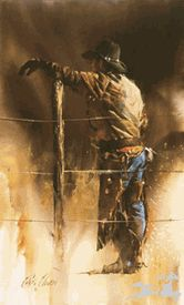 Chris Owen Artist Cowboy and Western Art Prints capture the ranch style life in all it detail. Cattle drives, Horses and more. Cowboy Horse, Cowboy Art, Western Cowboy, Chris Owen, Arte Country, Real Cowboys, West Art, Mountain Man, Watercolor Art