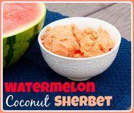 Watermelon Coconut Sherbert