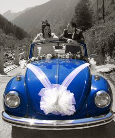 Bow & Ribbons Tulle Wedding Car Decoration