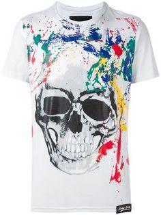 Philipp Plein camiseta con estampado de calavera