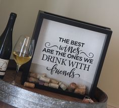A personal favorite from my Etsy shop https://www.etsy.com/listing/263326341/new-design-12x12-wine-cork-collection