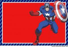 Convite de Festa Infantil Com Tema de Capitão América Captain America Party, Captain America Birthday, Free Printable Invitations, Free Printables, Oh My Fiesta, Superhero Party, Marvel, Avengers, Free Birthday