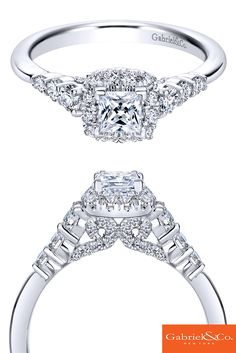 Detail is everything when it comes to this 14k White Gold Diamond Halo…