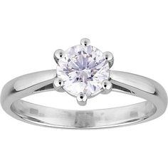 Six Claw Diamond Solitaire Ring in White Gold Diamond Solitaire Rings, White Gold, Engagement Rings, Jewelry, Enagement Rings, Wedding Rings, Jewlery, Jewerly, Schmuck