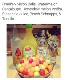 Alcohol soaked melon balls