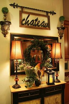 If you are having difficulty making a decision about a home decorating theme, tuscan style is a great home decorating idea. Many homeowners are attracted to the tuscan style because it combines sub… Tuscan Decorating, French Country Decorating, Decorating Ideas, Decor Ideas, Country French, Decorating Websites, French Decor, Tuscany Decor, Halls