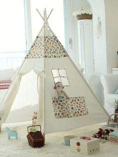 Children teepee tent baby play tent by goodhapy on Etsy, $100.00