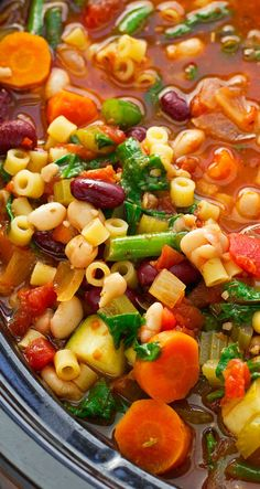 Homemade Minestrone Soup Slow Cooker Recipe Olive Gardens Minestrone Soup Slow Cooker And