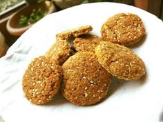 Easy Cookie Recipes, Oatmeal Recipes, Baby Food Recipes, Cooking Recipes, Healthy Recipes, Healthy Food, Biscuit Bar, Biscuit Recipe, Healthy Cookies For Kids
