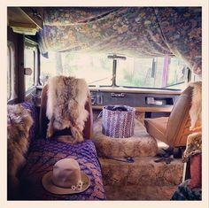 Inspiration of Van Life Hippie Bohemian Style Ideas - Camper Life Lounges, Hippie Bohemian, Bohemian Style, Boho, Travel Trailer Floor Plans, Camper Life, Bus Life, Van Living, Looks Cool