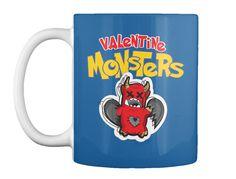 Valentine Monster! Trending T Shirt 2017 Dk Royal Mug Front