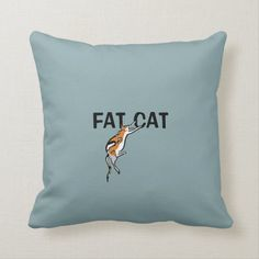 Shop Lazy Fat Tricolor Funny Cat Throw Pillow created by SQUIGLET. Cat Throw, Fat Cats, Animal Skulls, Animals Images, Profile Pictures, White Shop, Custom Pillows, Pink And Green, Funny Cats