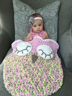 This is a PDF crochet pattern for a sleeping owl car seat cozy! This cozy is designed to either wrap under the bottom of car seat or stay inside the car seat with babies feet tucked inside the bottom pouch. The pouch will not interfere with car seat buckles! I've also included a larger size for bigger car seats. It's the perfect cozy for your little ones to snuggle up with in the car. They will love the feel of Bernat Baby Blanket yarn and it washes up great too! There are several fun and…