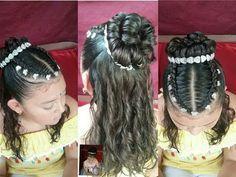 Peinados para primera comunion con caireles