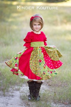 Violette's Swirly Peasant Dress Sizes NB to 8 Kids and Doll PDF Pattern Girls Boutique, Boutique Clothing, Girl Clothing, Fashion Clothes, Dresses For Sale, Girls Dresses, Baby Dresses, Create Kids Couture, Girls Christmas Dresses