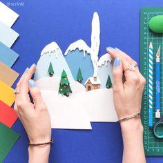 Making of paper illustration. Artist Margaret Scrinkl