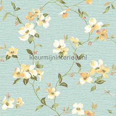 Dogwood bloem 322312   behang Lavender Dream van Eijffinger   kleurmijninterieur.nl