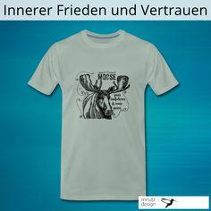 Der Elch steht für Vertrauen und inneren Frieden T Shirt Designs, Grafik Design, Illustration, Mens Tops, Fashion, Inner Peace, Moose, Confidence, Infographic