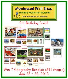 Montessori Print Shop Blog: MPS Birthday Bash (day 6) - Geography Bundles for 7 Continents