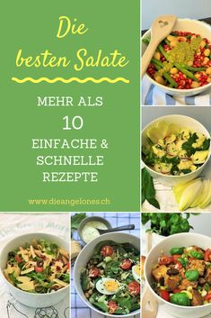 Salads: 10 simple, fast and healthy recipes for the whole family - Rezepte Bow Pesto, Salad Recipes, Healthy Recipes, Main Meals, Side Dishes, Salads, Fresh, Simple, Kinds Of Salad