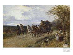 A Passing Coach Art Print by Heywood Hardy at Art.com