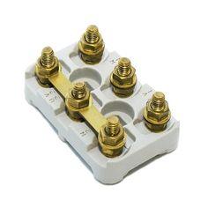 Terminal blocks 44 27 3 4 5 6 inserts m4 standard brass for Electric motor terminal blocks