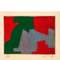 Serge POLIAKOFF (1900-1969) COMPOSITION VERTE, BLEUE ET ROUGE, 1965