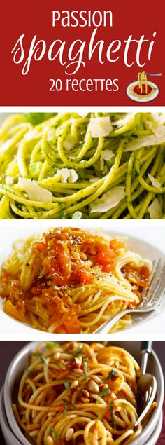 spaghettis à tous les goûts