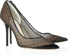 Jimmy Choo Barb lace pointed-toe pumps