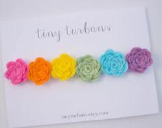 Felt Flower Headband felt flower crown by tinyturbans on Etsy