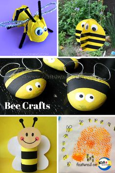 Bug Crafts for Preschool: Bee Craft