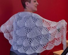 Belon Shawl by Jill Wolcott - knitting pattern for lace shawl using one skein of The YarnSisters Pearl laceweight yarn