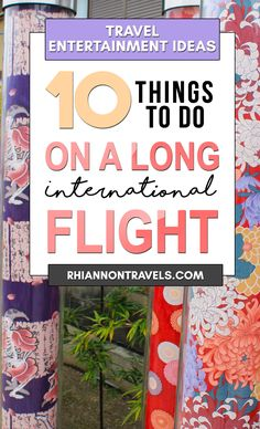 Travel Entertainment Ideas - 10 Things to do on a Long Flight | Rhiannon Travels