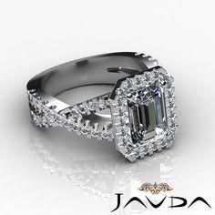 Fancy Italian Prong Radiant Diamond Engagement Ring EGL E SI1 14k White Gold 2ct | eBay