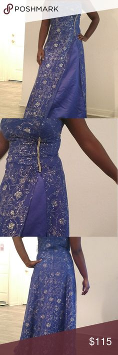 Blue sequin prom dress This beautiful ball gown is perfect for prom, only worn once. Get ready to sparkle all night. Reign On Dresses Prom