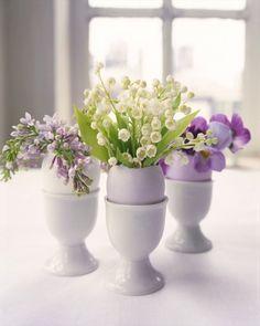Eggshell Flower Arrangements