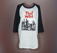 "The who size L bust 40"" Festival shirt Baseball tee Raglan shirt Unisex festival #unbranded #Raglan"