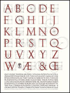 Constructed Roman Alphabet poster by David Lance Goines