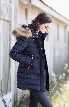 Vince Camuto Down & Feather Fill Parka with Faux Fur Trim Down Feather, Hooded Parka, Paige Denim, Fur Trim, Vince Camuto, Canada Goose Jackets, Autumn Winter Fashion, Faux Fur, Winter Outfits