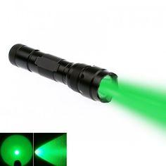 CREE Q5 Single Mode 200 Lumens Fishing Hunting LED Flashlight Torch, Green Light