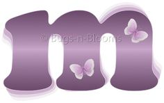 """m"" Purple Butterfly Alphabet Letter Name Initial Wall Sticker - Decal Letters for Children's, Nursery & Baby's Room Decor, Baby Name Wall Letters, Girls Bedroom Wall Letter Decorations, Child's Names. Butterflies Mural Walls Decals Baby Shower Bugs-n-Blooms,http://www.amazon.com/dp/B001689FZ6/ref=cm_sw_r_pi_dp_WKiXsb19CVC7WTZW"